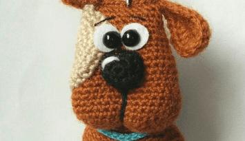 Брелок собачка амигуруми крючком