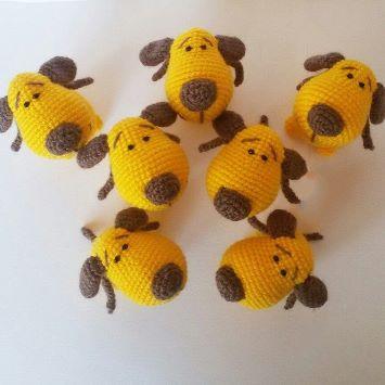 Собачки крючком амигуруми