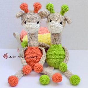 Жирафы амигуруми крючком