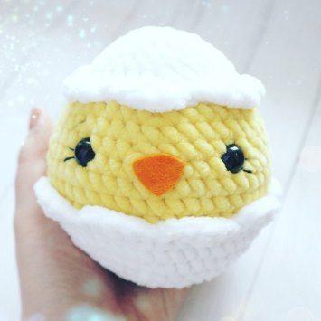 Цыпленок в яйце крючком