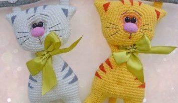 Котики амигуруми крючком