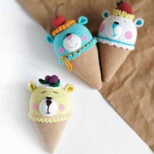 Вязаное мороженое крючком
