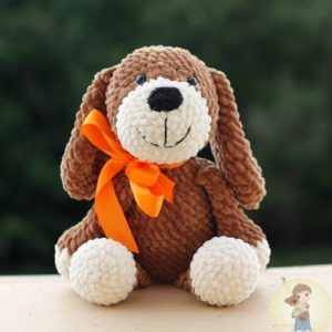 Собака крючком амигуруми