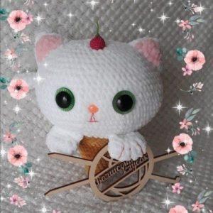 Котенок-мороженое крючком