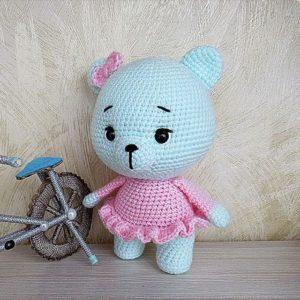 Вязаная игрушка мишка крючком